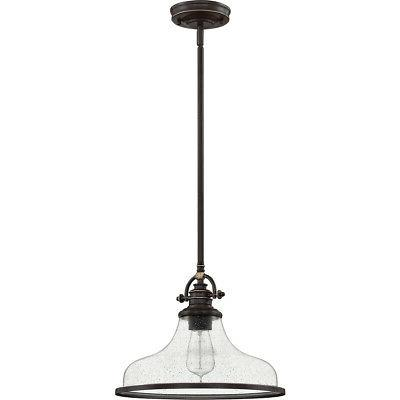 Quoizel Light inch Palladian Bronze Pendant Ceiling Light