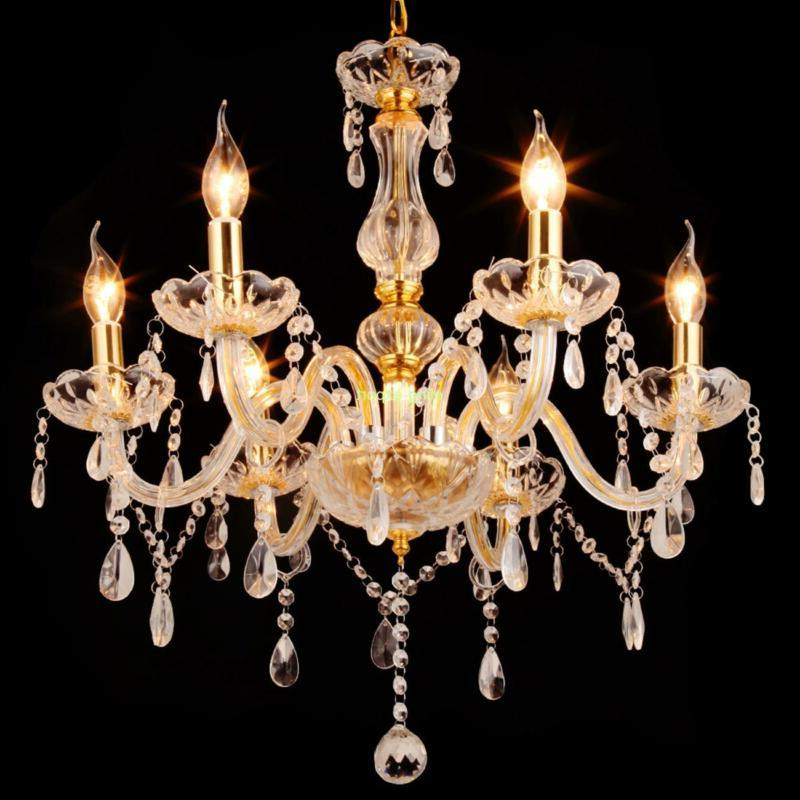 Home 6 Crystal Chandelier Pendant