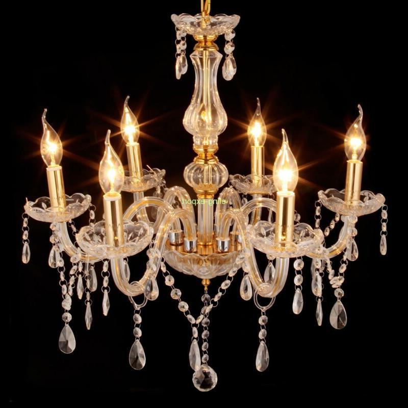 Home Modern 6 Crystal Chandelier Ceiling Pendant Lighting