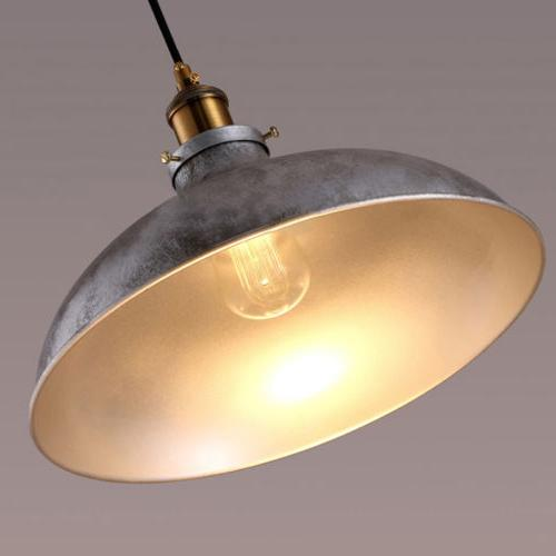 Industrail Pendant Silver Dome Hanging Ceiling