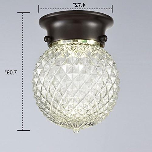 AXILAND Antique Collection Flush Mount LED Ceiling Globe