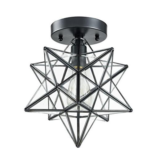 AXILAND Industrial Moravian Light 12-inch, Glass 1-Light