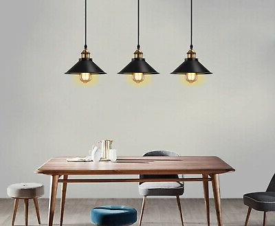 Industrial Ceiling Lamp Cafe Home Kitchen Black