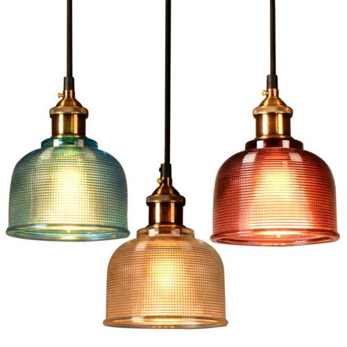 industrial glass pendant light color plating ceiling
