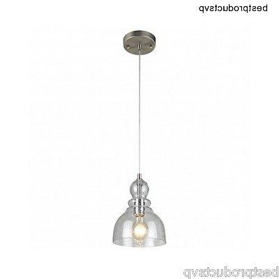 industrial glass pendant light fixture