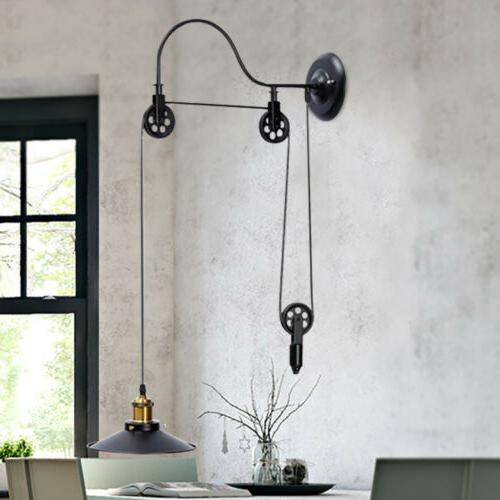 Vintage Hanging Ceiling Light Pendant Industrial Retractable