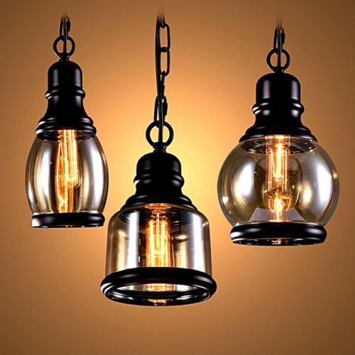 Industrial Pendant Light Vintage Hanging Lights Retro Lamp F