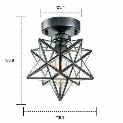 AXILAND Industrial Ceiling Light Glass