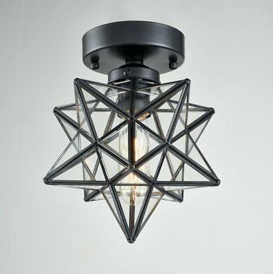 AXILAND Moravian Ceiling Light Glass