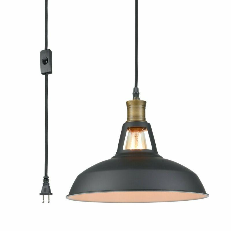 industrial plug in pendant light with 9