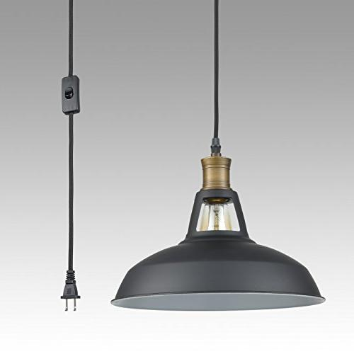 YOBO Pendant Light with 9.8 Ft On/Off Switch