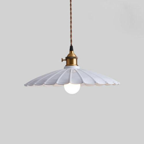 industrial scalloped hanging pendant light loft ceiling