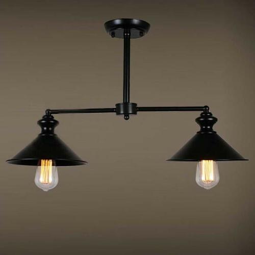 Industrial Semi Flush Mount Ceiling Light Pendant Lamp Islan