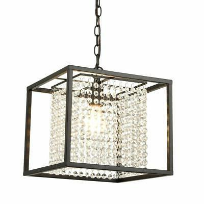 AXILAND Industrial Square Rustic Hanging Pendant Lights Crys