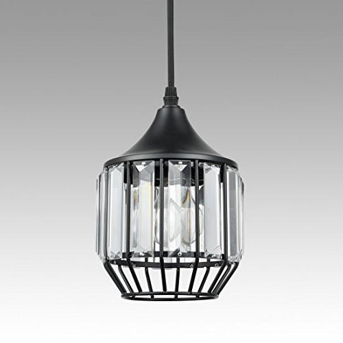 AXILAND Industrial Vintage Plug-in Crystal Light with 10 Ft Cord and On/Off