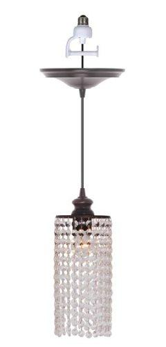 Worth Home Products Instant Pendant Light with Clear Glass S