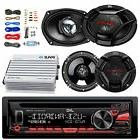 "KDR480 CD Car Radio,JVC 6.5"" and 6x9"" Speakers, Bluetooth 40"