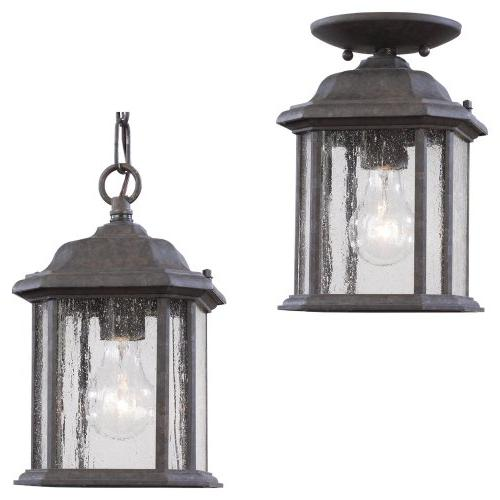 Sea Gull Kent Outdoor Hanging Light - 10H in. Oxford Bronze