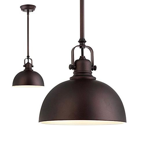 Kitchen and Bar 1 Light Mini Pendant with Oil Rubbed Bronze