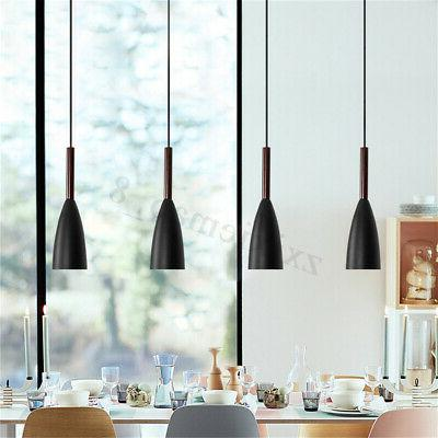 Kitchen Lighting Bar Modern Pendant Lamp Wood Island Hanging Light