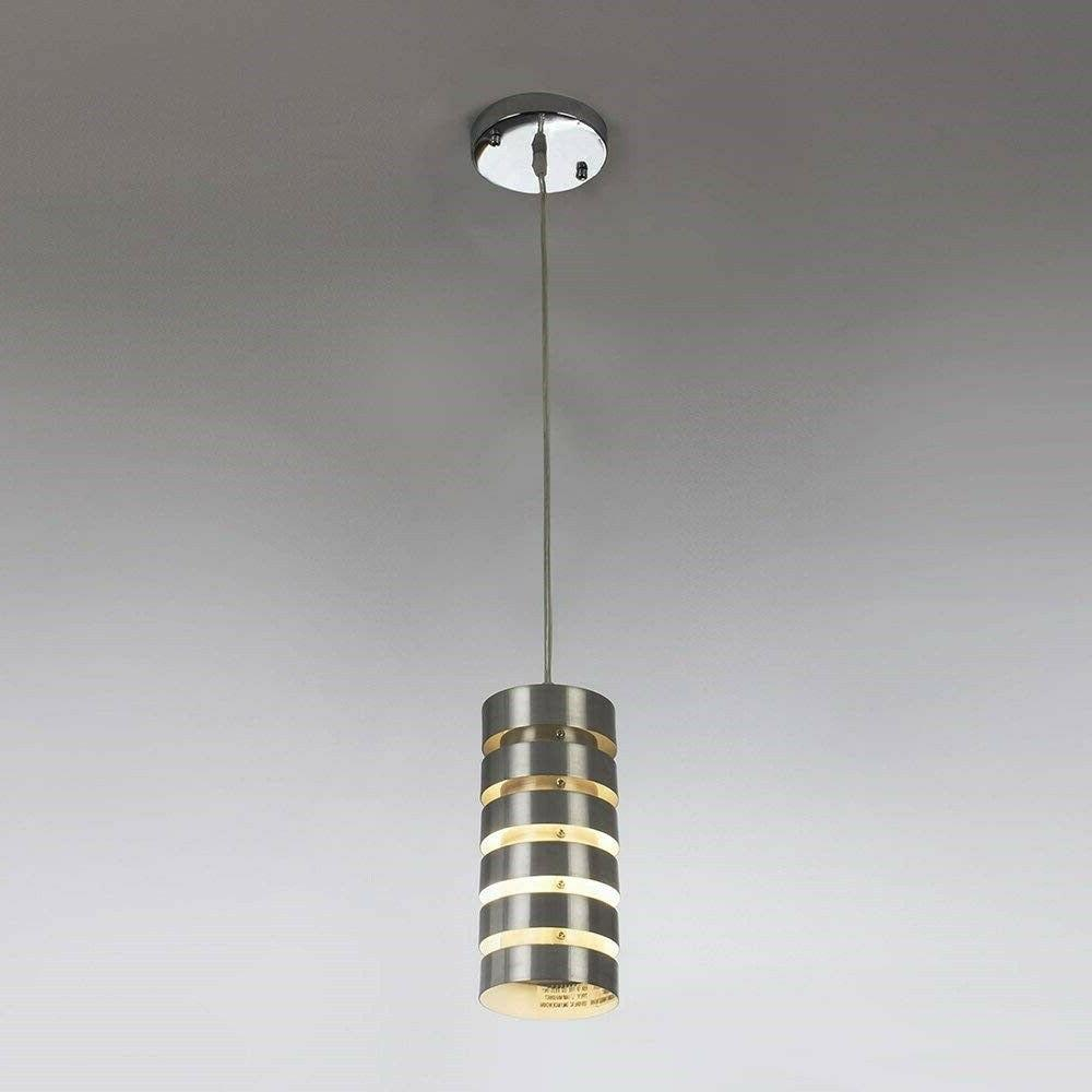 kitchen pendant light brushed nickel fixture modern