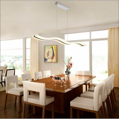 38W Modern Acrylic LED Wave Chandelier S shape Pendant Light