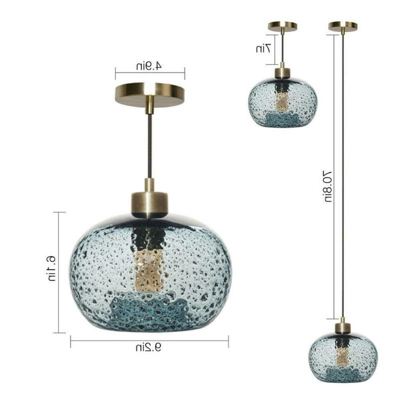 Casamotion Brass Rustic Seeded Pendant w/ Glass 9 i