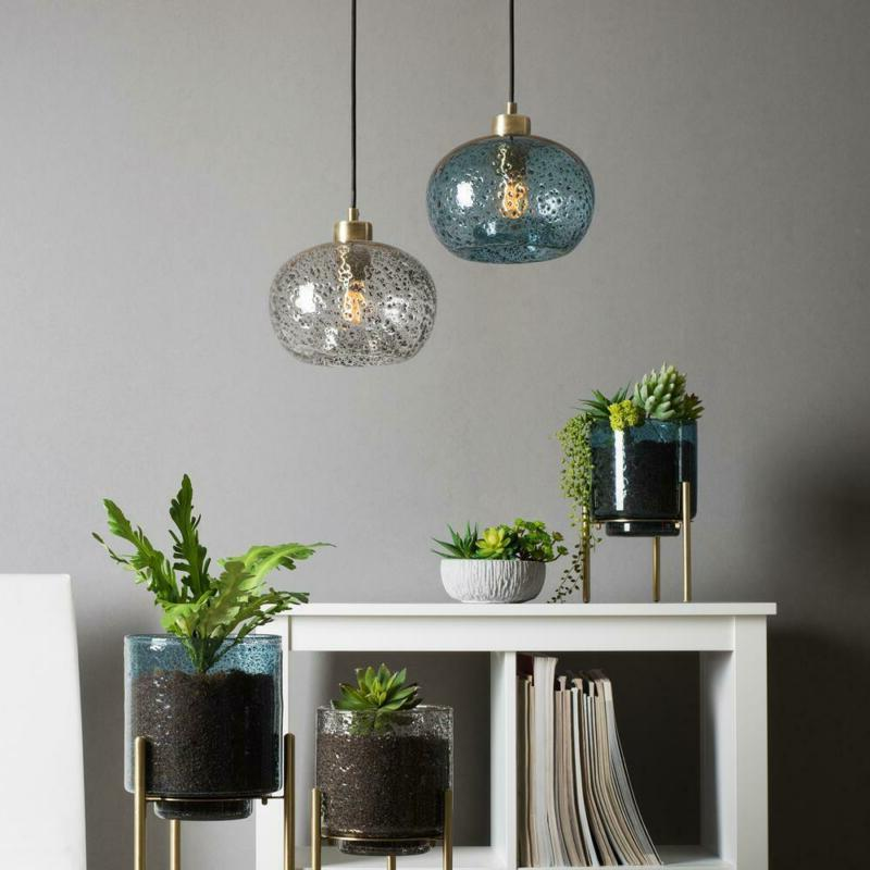 Casamotion Rustic Seeded Glass Light w/ Glass 9