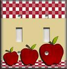 Metal Light Switch Plate Cover - Red Apples Decor Kitchen De