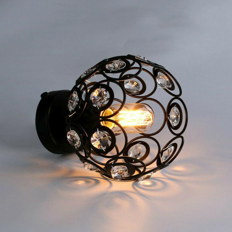 Metal Wire Hanging Lamp Shade Ceiling Pendant US