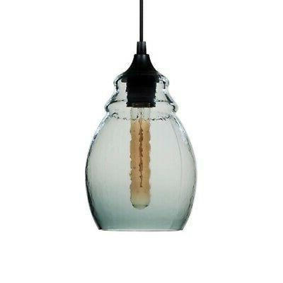 Casamotion Mini Pendant Light Handblown Glass Drop Light Gre