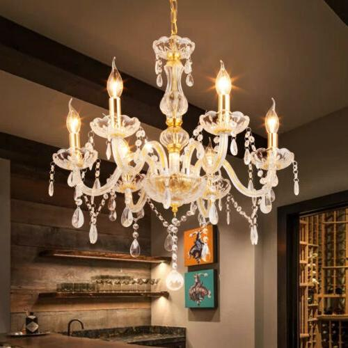 modern 6 arms candle chandelier lighting ceiling