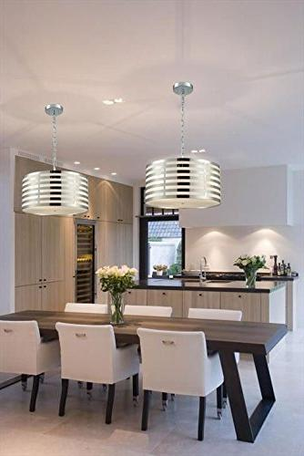 AXILAND Modern Chain Shade Pendant 3-Light