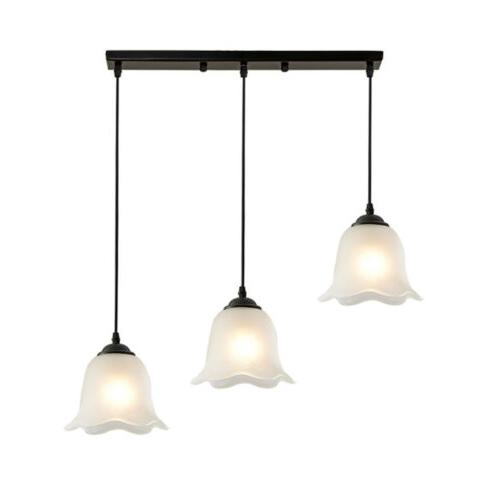 3 light flower shaped pendant light suspended