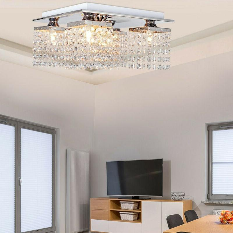 Modern Crystal 5 Ceiling Lamp Fixture Decoration