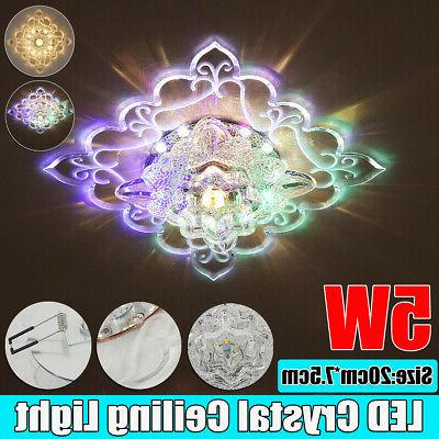 modern crystal led ceiling light fixture aisle