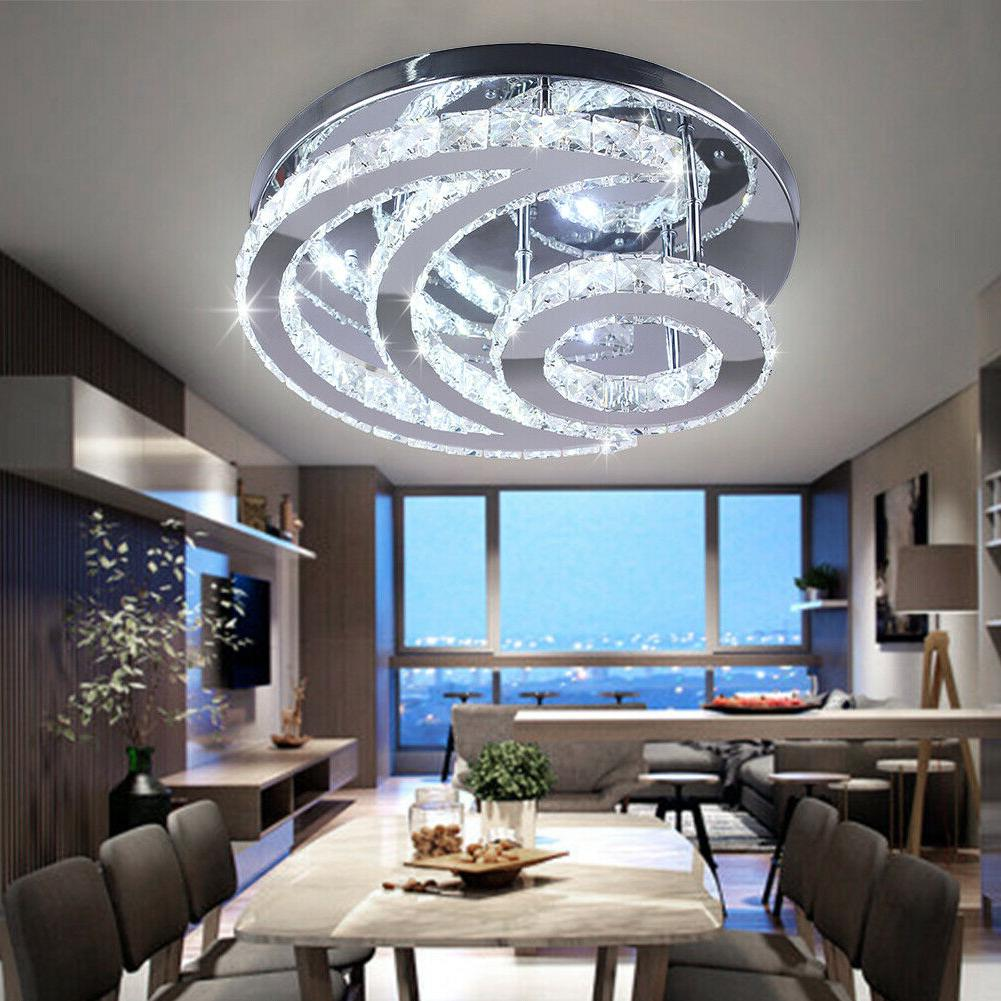 Modern Crystal Led Chandelier Moon Shaped contemporary Ceili
