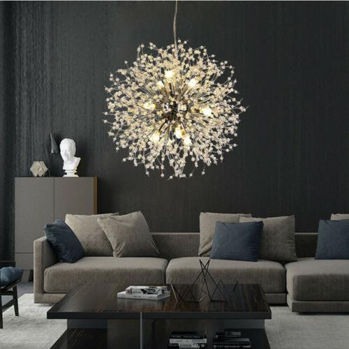 8/9 Light Modern Dandelion Chandelier LED Firework Pendant C