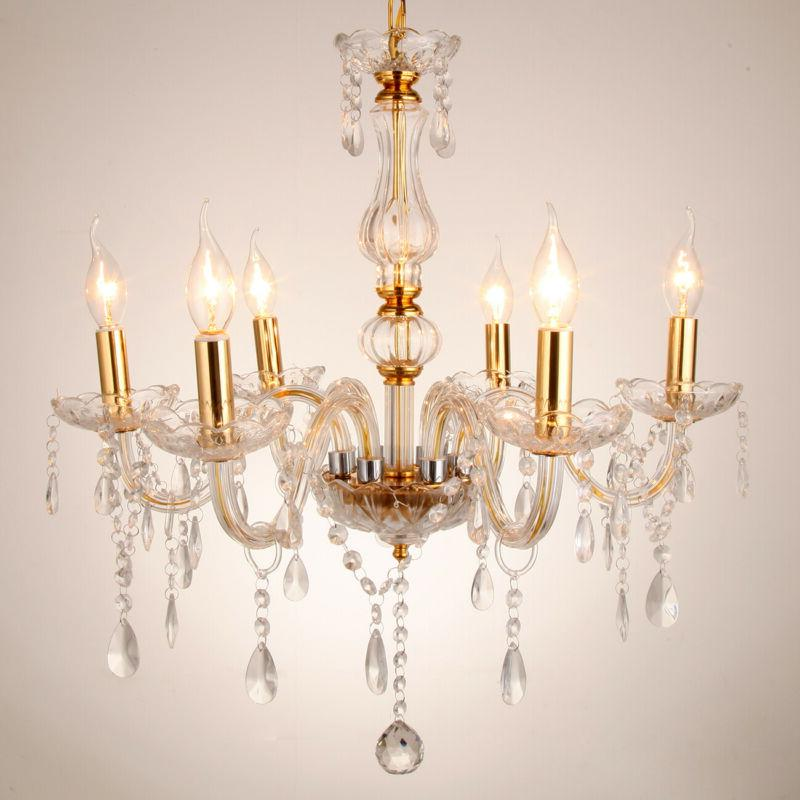 Luxurious Chandelier Lamp Light 6 Arms