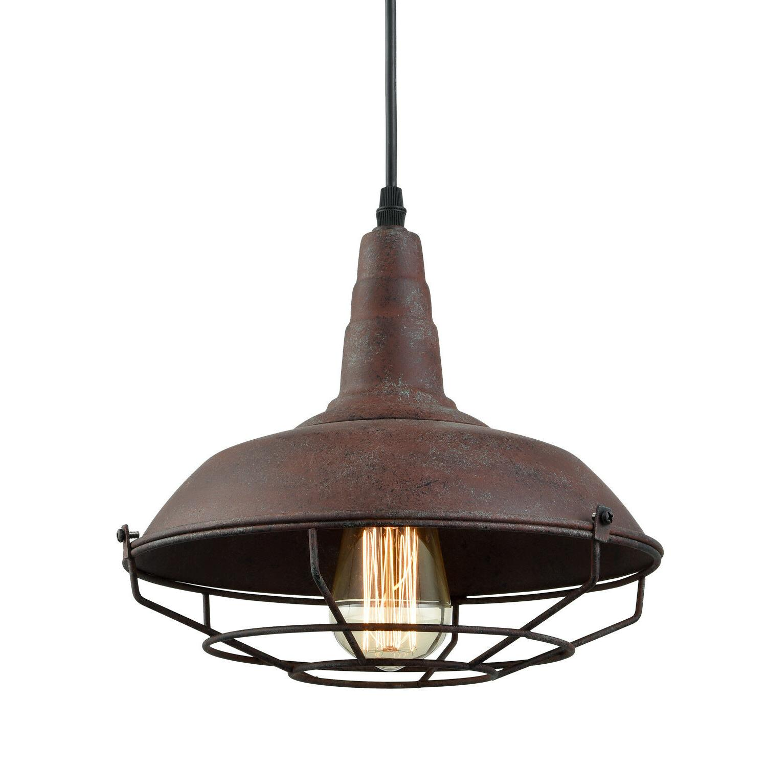 modern farmhouse kitchen pendant light cage hangning