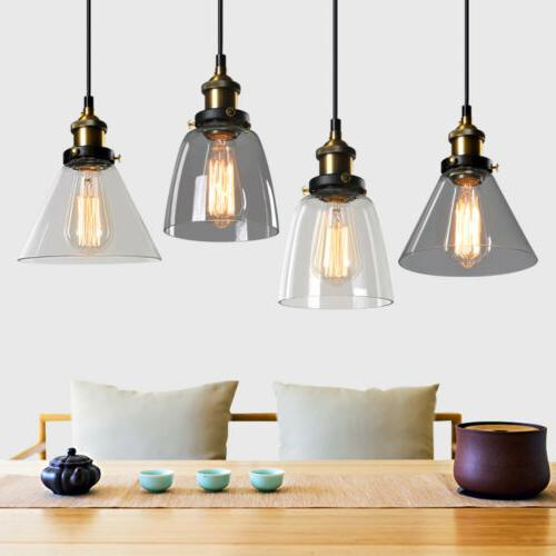 modern glass pendant lighting dining loft lamp
