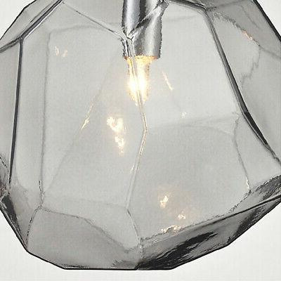 Modern Glass Diamond Pendant Living