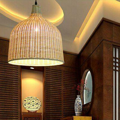 Modern Rattan / Bamboo Light Shades