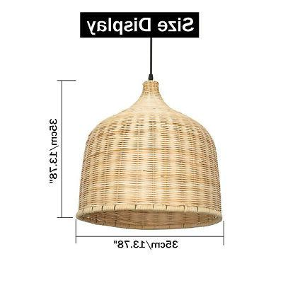 Modern Bamboo Light Lampshades