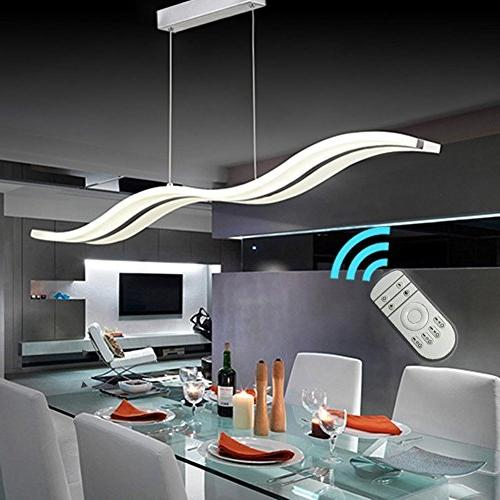 Create Life Modern Dimmable Modern LED Chandelier Hanging Fixture Contemporary Room Island