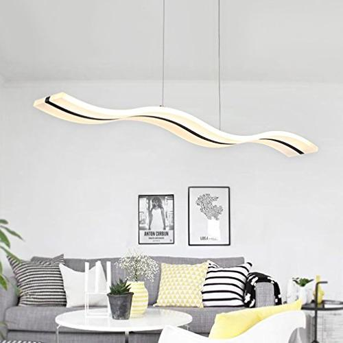 Wave LED Dimmable Modern Chandelier LED Light Fixture Contemporary Room Dining Room Kitchen Island