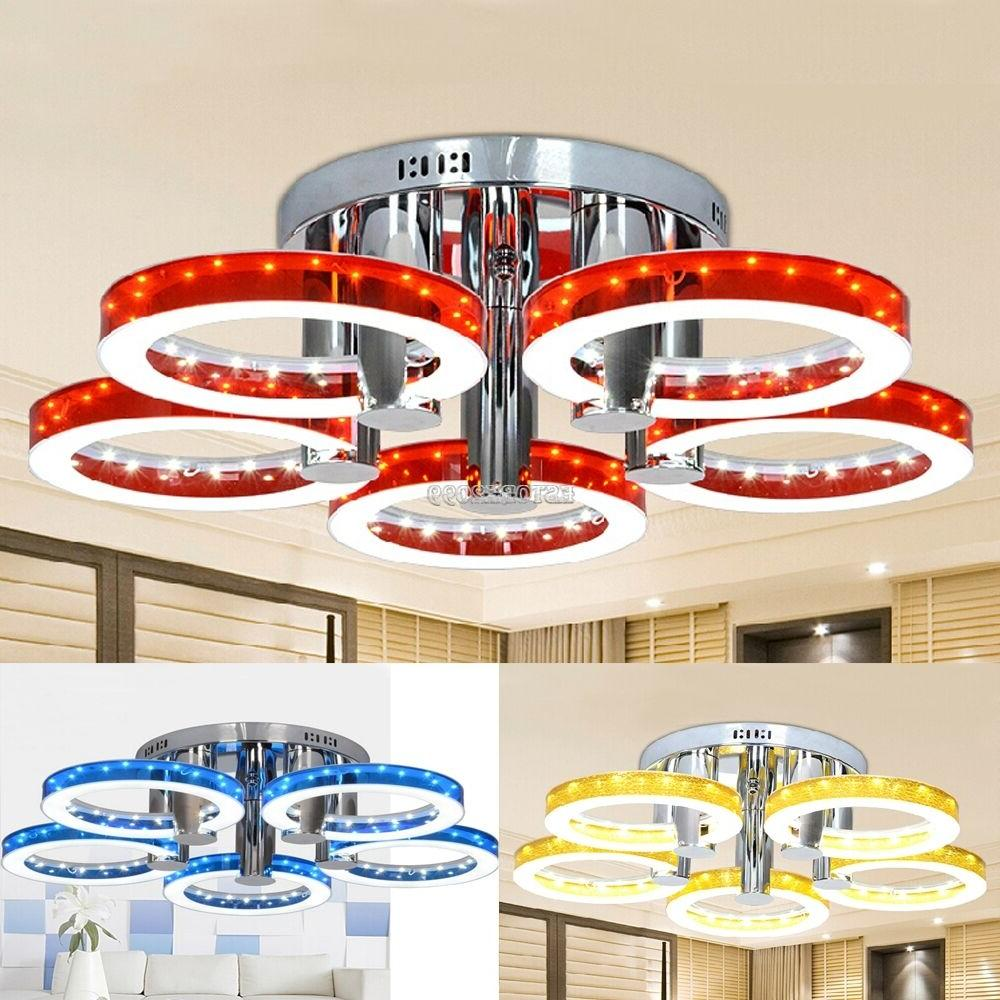 New Round Acrylic Chandelier Ceiling Light 29'' 5 LED Pendan