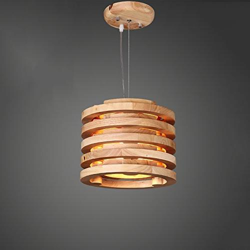 nordic wooden round dining chandeliers