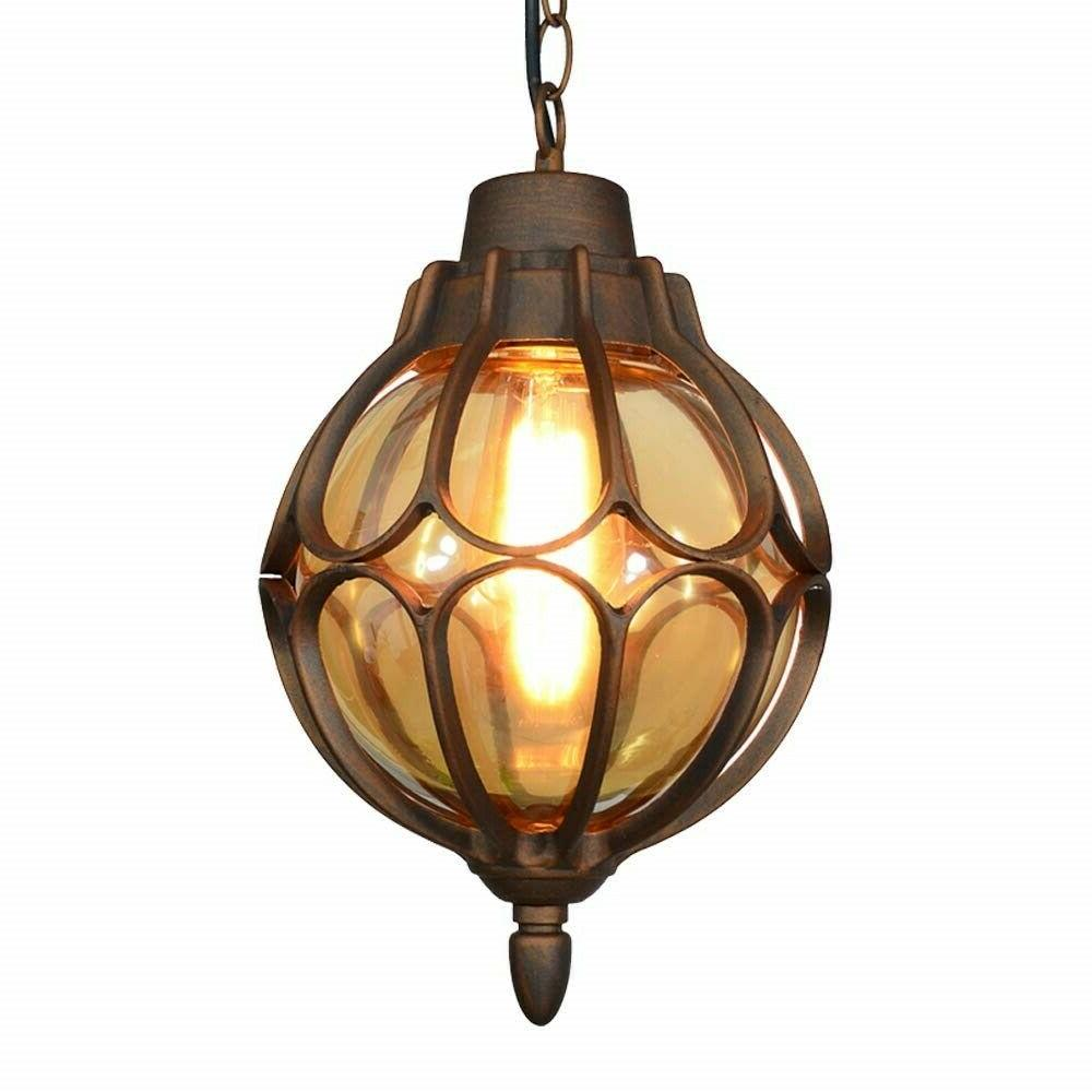Outdoor Light Fixture Antique Bronze Glass