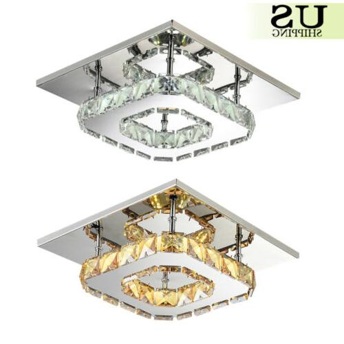 pendant ceiling lamp crystal fixture led light